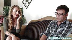 Pornstar Natasha Starr blowing stepsons cock