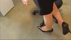 HANJOB SHOEJOB secretary high heels stiletto pumps stockings