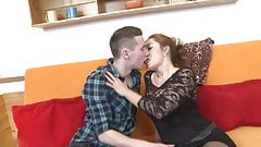Milf and young boy