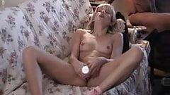 Blond Teen masturbates with Dildo