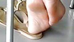 Candid indian Feet