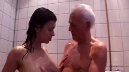 Old Man and Young Girl Showering Together: Free Porn 06