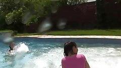 Lesbians at the pool