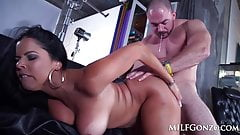 MILFGonzo Busty brunette Diamond Kitty taking it up the ass