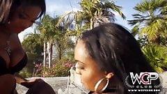 WCP CLUB Lesbian Ebony Babes love the taste of pussy