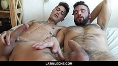 Sizzling Bareback Double Penetration For A Sexy Latino Stud
