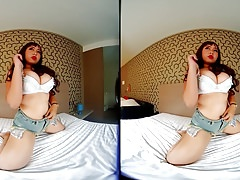 VRpussyVision.com - Fat girl shows her massive body