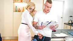 KINKY TUTOR - Hot MILF Angel Wicky seduces & bangs student's Thumb