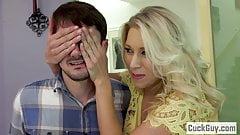 Katie Morgan's Husband Cleans Up the Cum