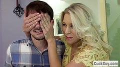 Katie Morgan's Husband Cleans Up the Cum's Thumb