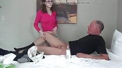 Teen Girl Jerks Off Old Guy's Thumb