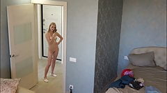 Czech teen Ela - Nude Selfies. Hidden spy cam at home.