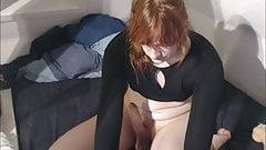 Transgender amateur LucyFemboy masturbates to orgasm
