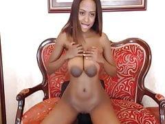 Gorgeous Ebony Huge Nipples And Tits