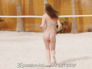 Preview 1 of PASSION-HD Backyard volleyball fuck with Chloe Scott