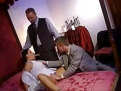 Double penetration in front of her husband
