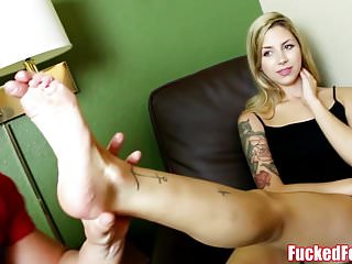 Teen Ryan Riesling Does First Footjob for Fucked Feet!