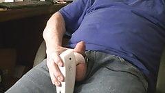 Using estim and stroking to reach orgasm