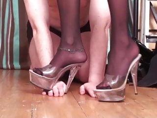 Nylon Ladies Dominate Slaves