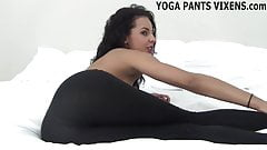 Stroke your cock while I tease you in my yoga pants JOI