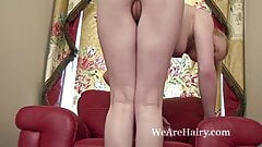 Tegan Jane doesn't like to cover her hairy pussy