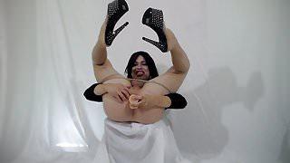 Instant Sissygasm - Crossdresser Dildo