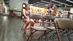 Voyeur legs sitting