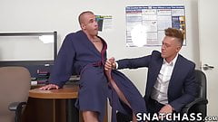 Muscular hunk anally destroys his gorgeous coworker