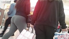 Thick Asian girls rolling with some dork