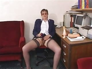 Big Tits Hairy Mature TeacherMasturbation pt1