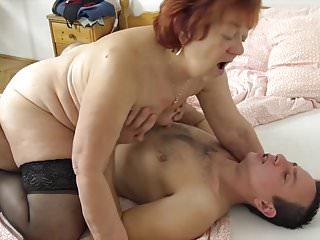 He loves gandmas old pussy!
