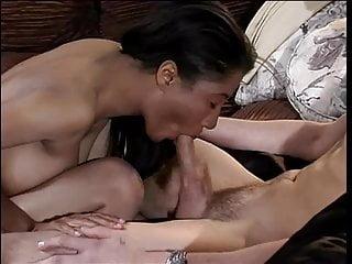 Hottie with an amazing rack, sucks & fucks a big hard cock