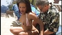 Tiny black chick gets groped poolside