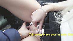 Le joli string blang de Chloe lacourt