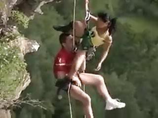 Crazy Mountain Climbers Fuck Mid Air