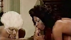 Chocolate and White Chicks Sucking Cock (1970s Vintage)