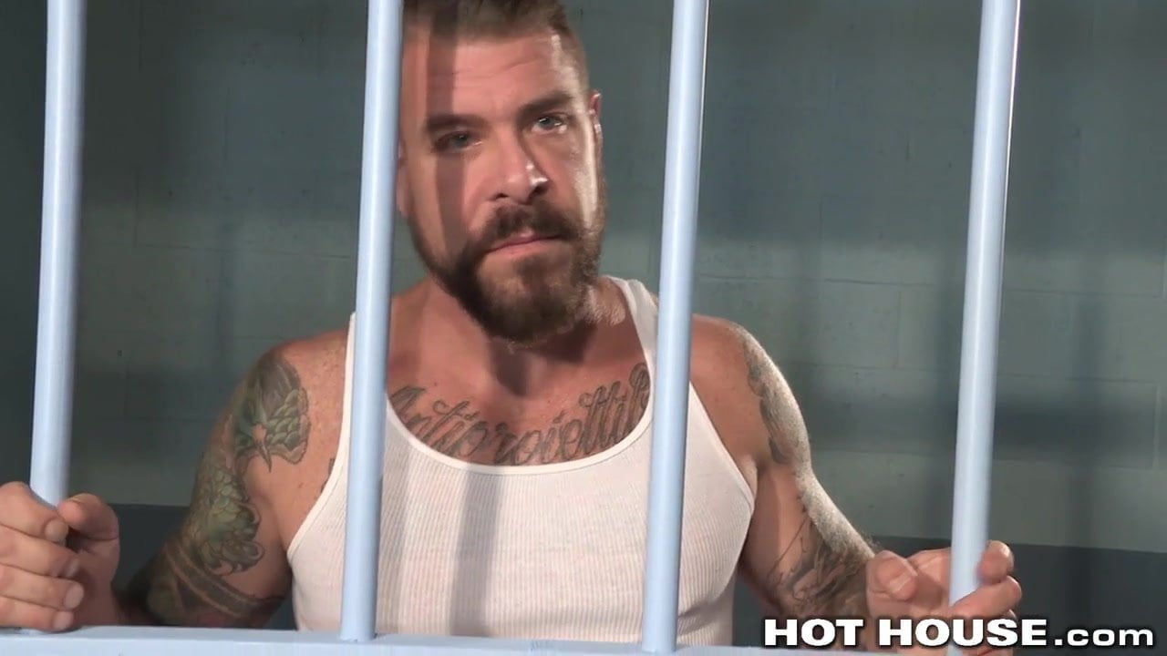 Naughty hunks fuck in jail