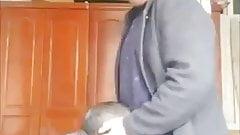 Japanese grandpa sucking cock