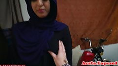 Hijab muslim amateur doggystyled on camera