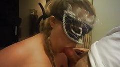 kinky masked bbw blowjob