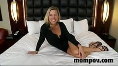 Sexy blonde milf debuts in first adult video