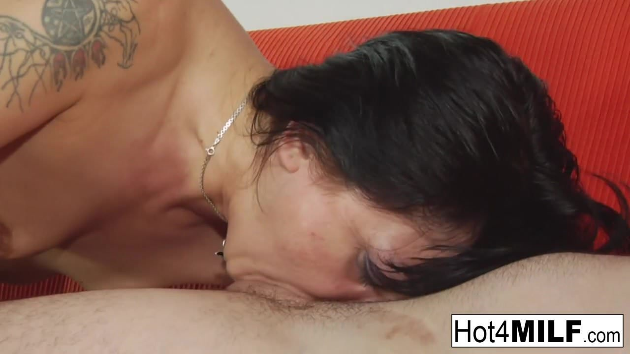 Russian MILF blows him and gets fucked