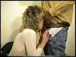 White Blonde Mature Lady is Used by 2 Black Studs