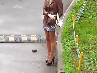Street prostitute waiting for customer 1