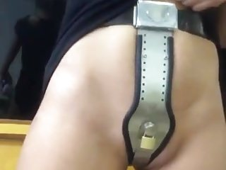 Outdoor chastity belt