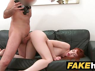 Preview 5 of Fake Agent Creampie for new Redhead American model