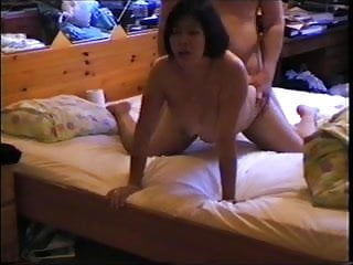 Asian mom in lingerie , face sitting anddoggystyle sex