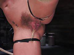 Blonde, Big Tits, Mega Star Phoenix Fucking Marie in Bondage