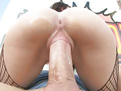 Cece Capella gagging and riding a big cock