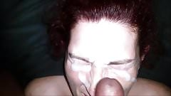 Face covered in cum